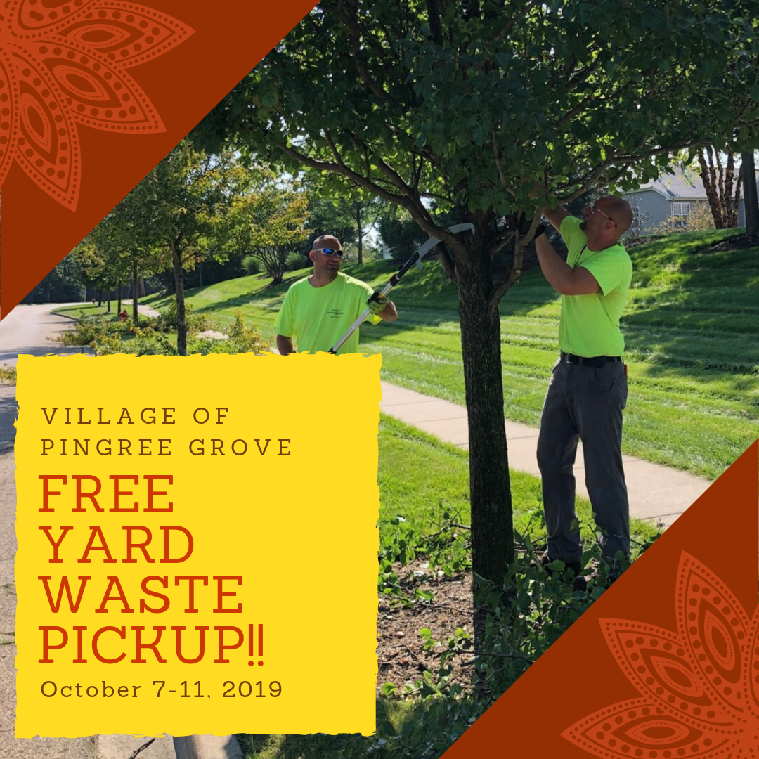 Free yard waste pickup!!