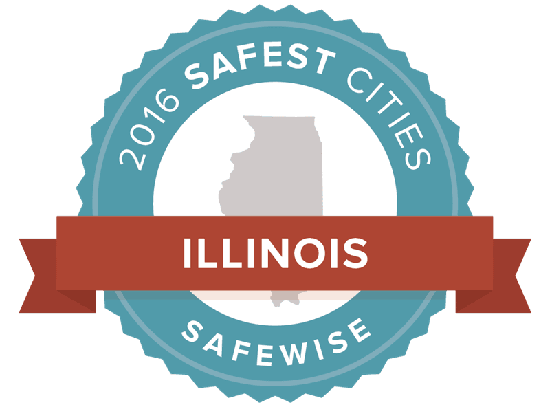 2016 Safest Cities in Illinois Badge Safewise
