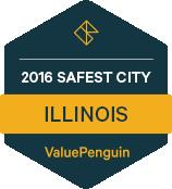 2016 Safest City Illinois Value Penguin