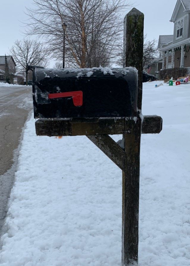 Mailbox with snow