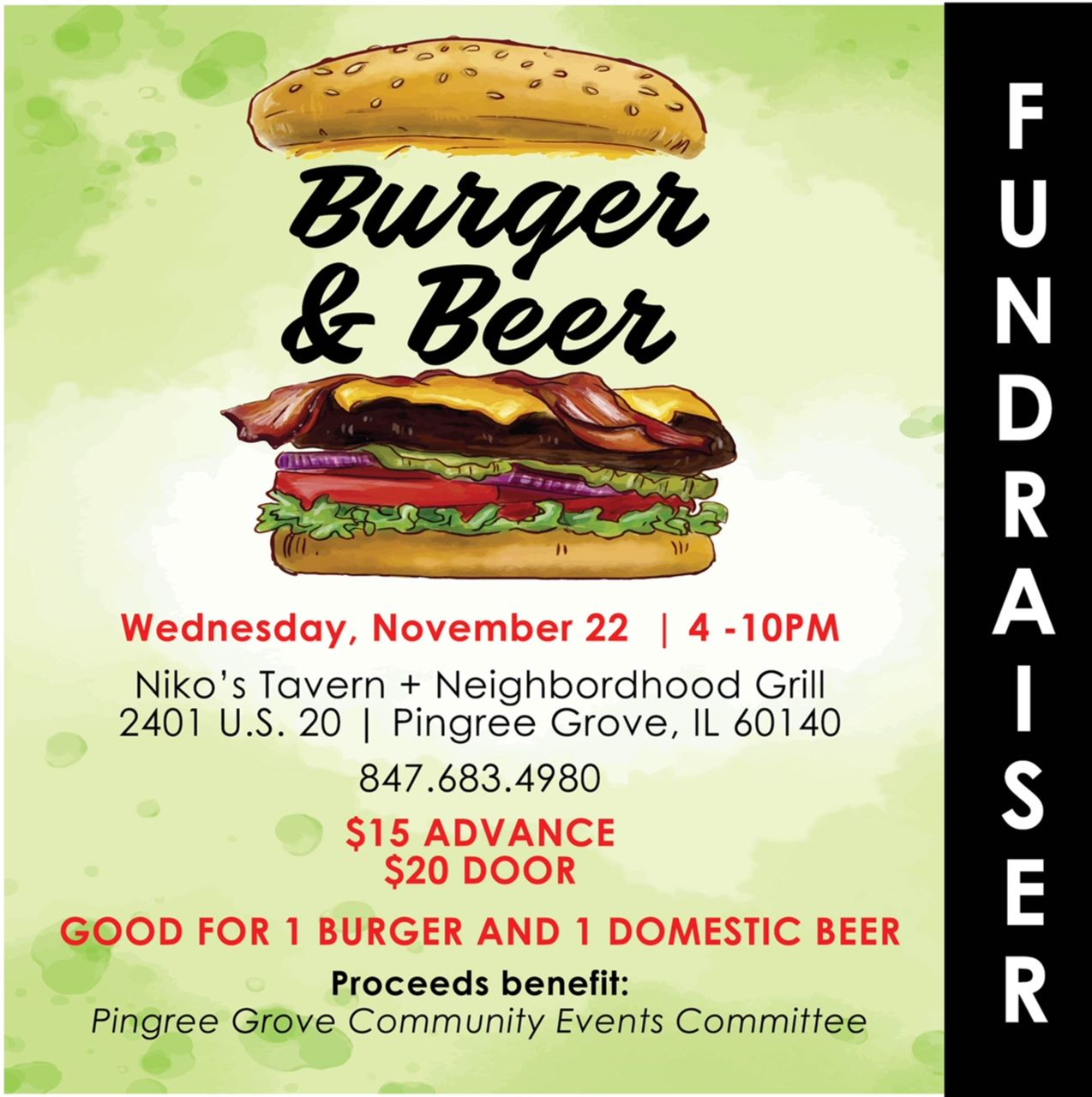 Burger and Beer Fundraiser 112217