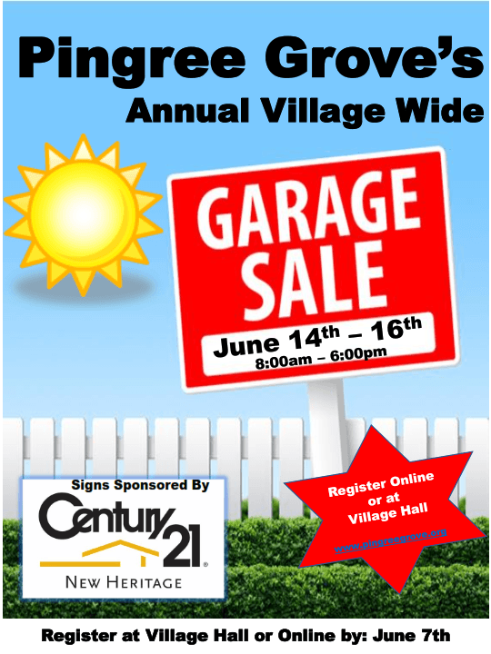 Garage Sale flyer 2018