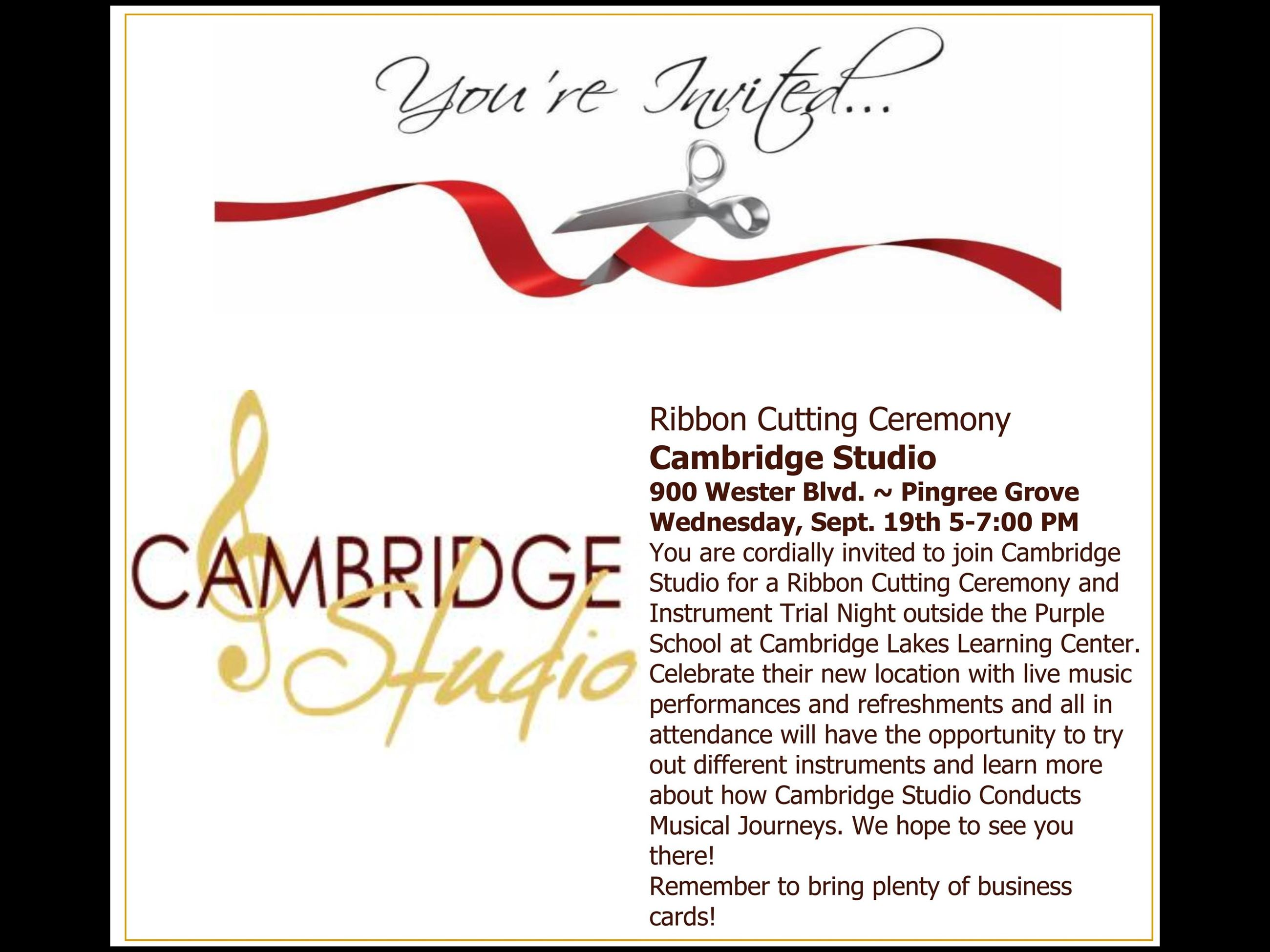 Cambridge Studio Ribbon Cutting