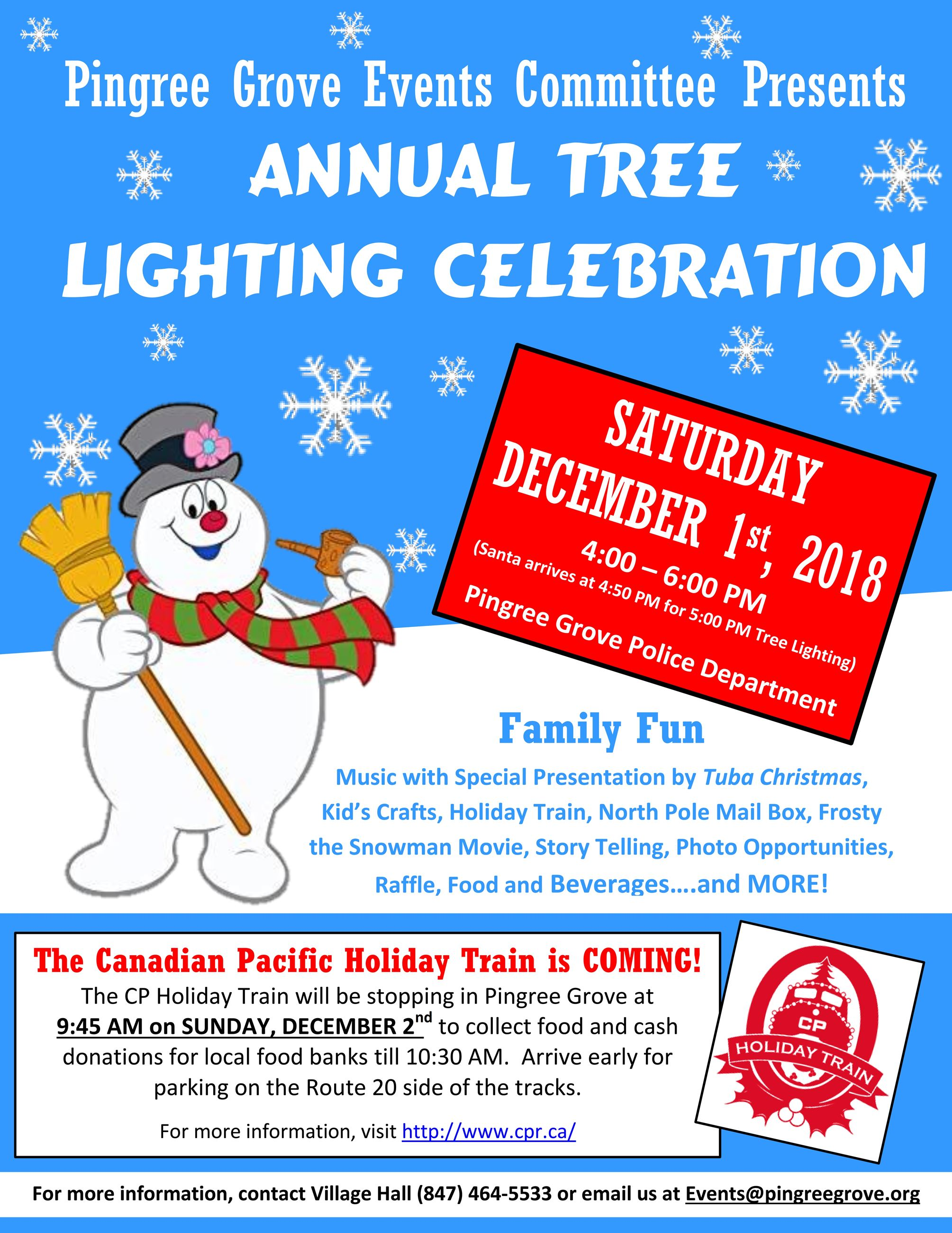 Tree Lighting Flyer 2018