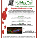 Holiday Train Sponsorship Flyer 2018 Pingree Grove