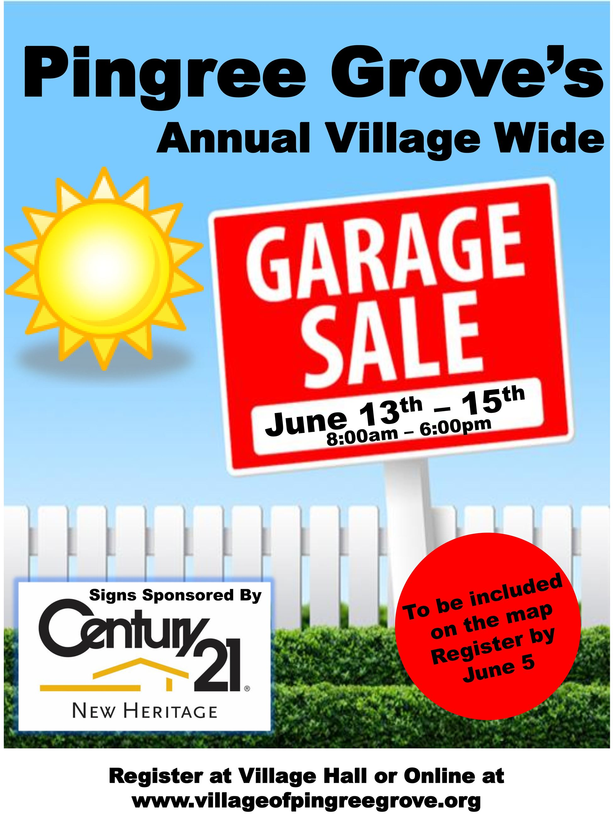 Garage Sale flyer registration 2019